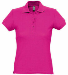 Paarse Polo Shirt Korte Mouw Sols PASSION WOMEN COLORS