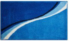 Badematte Luca Grund blau
