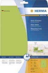 Groene HERMA Neon labels A4 210x297 mm luminous groen paper matt 20 pcs. (5151)