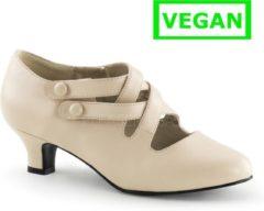 Creme witte Dame-02 Pump with short heel and braided straps cream - (EU 39 = US 9) - Funtasma
