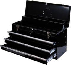 HOMCOM Werkzeugkasten mit Tragegriff Werkzeugkoffer Werkzeugkiste Metallwerkzeugkasten