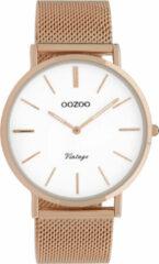 OOZOO Timepieces Horloge Vintage Rosé/Wit   C9917