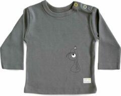 Donkergrijze Olli + Jeujeu Baby T-shirt 86