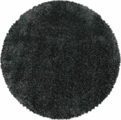 Impression Himalaya Pearl Soft Rond Shaggy Hoogpolig Vloerkleed Grijs - 120 CM ROND