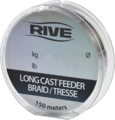 Rive Long Cast Feeder Braid - 0.13 - 150m - Donkergrijs - Grijs