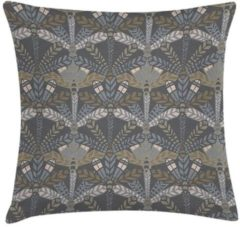 Grijze ECO Design FT 009176 Kussen Dark Grey Leaf 45x45