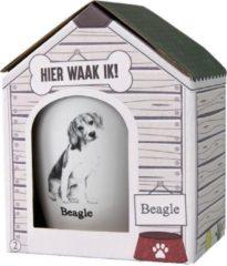 Witte Paper dreams Mok - Beagle – Dier – Puppy – Hond – Dieren – Mokken en bekers – Keramiek – Mokken - Porselein - Honden – Cadeau - Kado