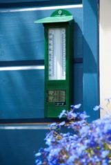 Groene Min-max thermometer kunststof digitaal 24x9,5x2,5cm Nature