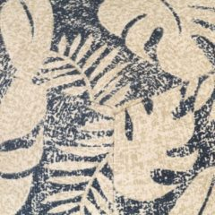 VidaXL Poef met gedrukt ontwerp 45x45x45 cm stof beige en zwart