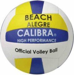 Calibra Beachvolleybal Alegre Wit/geel/blauw Maat 5
