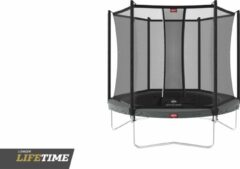 Grijze BERG trampoline Favorit 200 + Safety Net Comfort