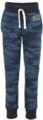 Gap joggingbroek met camouflageprint en borduursels donkerblauw blauw