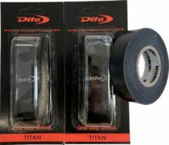 Hockeygrip Dita Zwart Set 2 stuks + rol PVC Tape