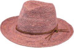 Roze Barts Celery hoed van stro met suède detail