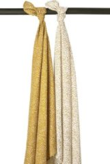 Gouden Meyco 2-pack swaddles Cheetah - honey gold
