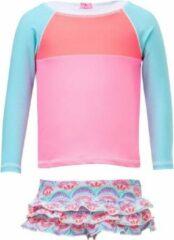 Snapper Rock - UV Zwemset met lange mouwen - Tutti Frutti - Roze/Blauw - maat 62-68cm