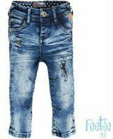 Blauwe Feetje! Jongens Lange Broek - Maat 56 - Denim - Katoen/elasthan
