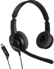 Zwarte Axtel Headsets Axtel Voice USB28 duo NC koptelefoon voor PC/Laptop - Home Office Headset