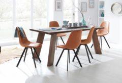Home affaire Esstisch »Macon« aus massivem Akazienholz