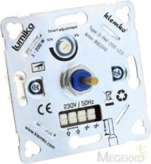 Grijze Klemko universele LED dimmer - inbouw - 1-200W - IP20