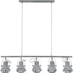 Zaloni Hanglamp Feridun 5LxØ16 van 120 cm breed - Grijs