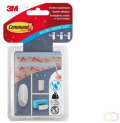 Command Bevestigingsstrips, 8 Large, 4 Medium, 4 Small, Transparant, Waterbestendig, Blister Van 16 Stuks