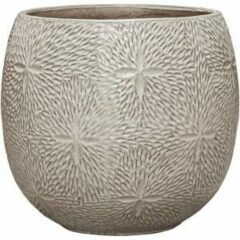 Ter Steege Pot Marly Cream ronde beige bloempot voor binnen en buiten 41x38 cm