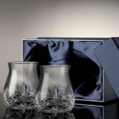 Transparante Glencairn Crystal Exclusief Glencairn set met 2x Mixer/Thumbler Whiskyglas | Voor de liefhebbers van Whisky met ijs | Serie Glencairn Cut | Kristal | Handgemaakt in Schotland | Geschenkverpakking