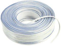 Kabeldirect Valueline - Luidspreker Kabel - Wit - 100 meter