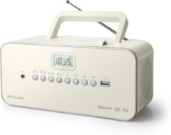 Creme witte Muse Electronics Muse M-30 BTN - Draagbare Radio/CD-speler met USB en bluetooth - crème