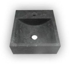 """Antraciet-grijze Best Design Fontein Best-Design """"Ruti"""" Limestone 30x30x10cm"""