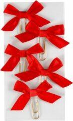 Creotime Paperclips Met Strik Rood 40 X 70 Mm 5 Stuks