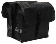 Zwarte Beck Small Black dubbele fietstas 30 liter