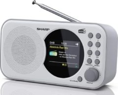 Sharp DR-P320WH Portable DAB - FM radio - wit