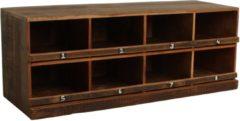Bruine Raw Materials Factory Schoenenkast - 120 cm - 8 vakken - Gerecycled hout