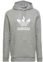 Grijze Adidas Originals Trefoil Hoodie Heren - Medium Grey Heather - Maat XL