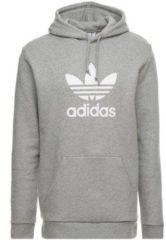 Grijze Adidas Originals Trefoil Hoodie Heren - Medium Grey Heather - Maat XL