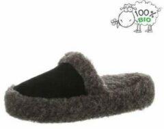 Chimb Pantoffels 100% lamswol maat 39 | Grijs-zwart | Sloffen | Heerlijk warm!