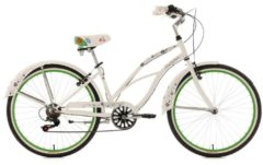 Beachcruiser Damen, KS Cycling, »Bellefleur«, weiß, 26 Zoll 6 Gang Shimano Tourney SIS, V-Brakes