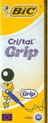 PENNA SFERA BIC CRISTAL GRIP BLU - 20 PEZZI