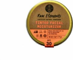 Raw Elements - Natuurijke Getinte Gezichtscreme SPF 30 - Blik - Plastic vrij