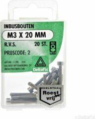 Deltafix Inbusbouten M4 x 20 mm RVS