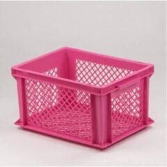 Lastpak Fietskrat Kunststof Roze M - prima krat voor opvallend lage prijs