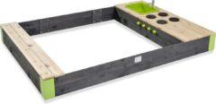Grijze EXIT Aksent houten zandbak 200x140cm