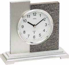 Zilveren AMS Tafelklok zendergestuurd Natuursteen-Aluminium 5150