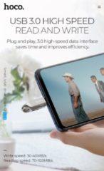 Zilveren Hoco- Premium 32GB USB-C Male Flash Drive + USB 3.0 Female - 2 in 1 Geheugenstick Type-C