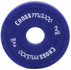 Lifemaxx Crossmaxx Elite Fractional Plate - Halterschijf - Gewichten - 50 mm - Blauw - 2 kg