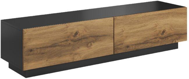 Afbeelding van Home Style Tv-meubel Livo 160 cm breed in votan eiken met antraciet