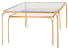 Riverdale Salontafel Roma goud set van 2 - 75 cm