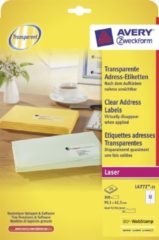 Avery transparante etiketten QuickPEEL formaat 991 x 423 mm (b x h) 300 stuks 12 per blad